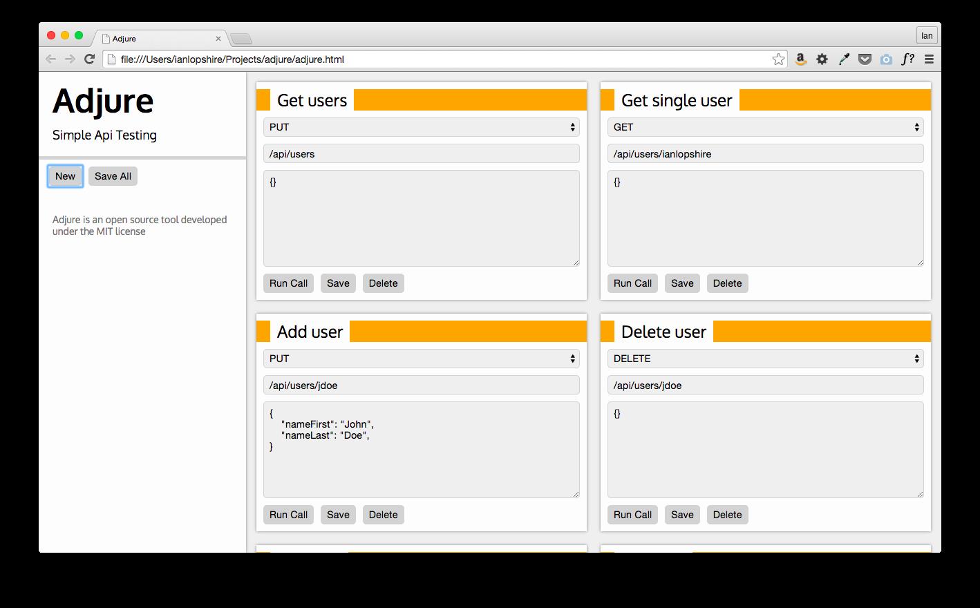 Adjure - Simple API Testing